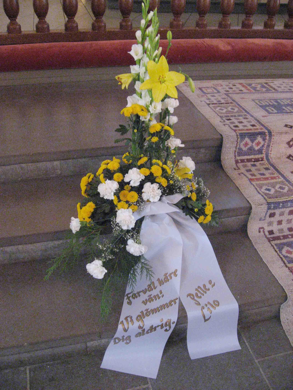en sista hälsning till begravning